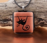 Cat on a Wire Pendant